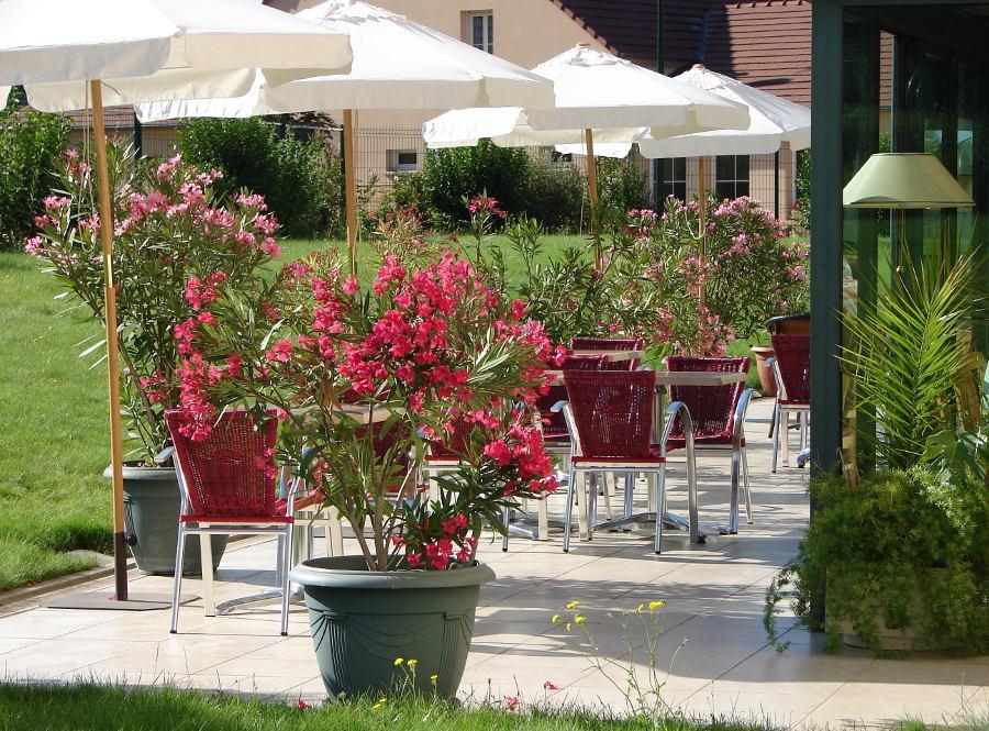 Terrasse et jardin Chateaudun Eure et Loir