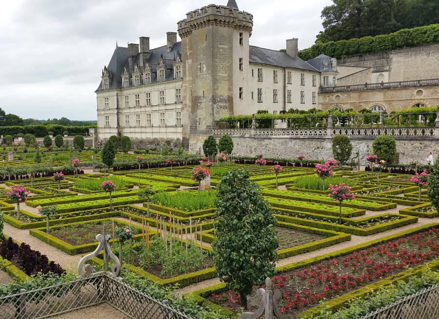 Jardin et château de villandry vallée de la loire